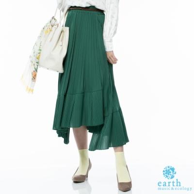 earth music 百褶拼接長裙