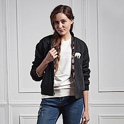 JEEP 女裝 時尚簡約個性雙面外套 (迷彩/黑)