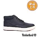 Timberland 男款Chukka黑色皮革休閒靴