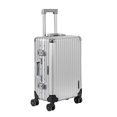 BENTLEY賓利  20 吋全鋁鎂合金拉桿行李箱-銀
