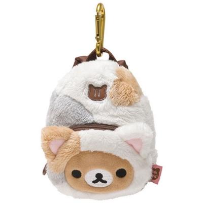 拉拉熊悠閒貓生活系列背包造型吊掛收納包。懶熊San-X