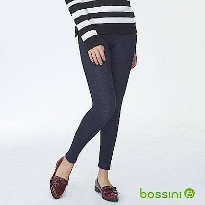 bossini女裝-牛仔刷毛貼身褲01深靛藍