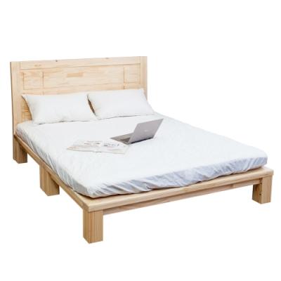 Boden-森林家具 維爾6尺雙人加大全實木床架(床頭片+床底)(不含床墊)