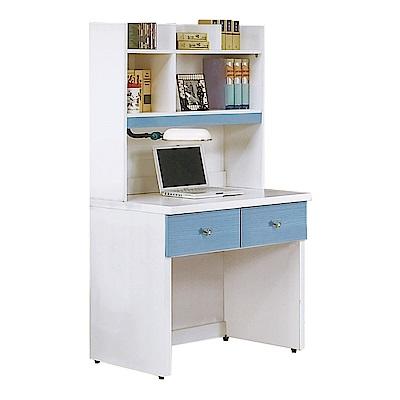 綠活居 多萊2.7尺多功能書桌(二色+上+下座)-80.5x59x158.5cm免組