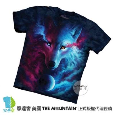 摩達客-美國The Mountain 光影陰陽狼 純棉環保短袖T恤