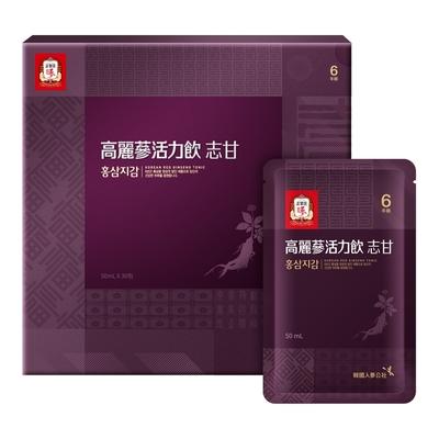 【正官庄】高麗蔘志甘活力飲50ml x30包/盒 x2