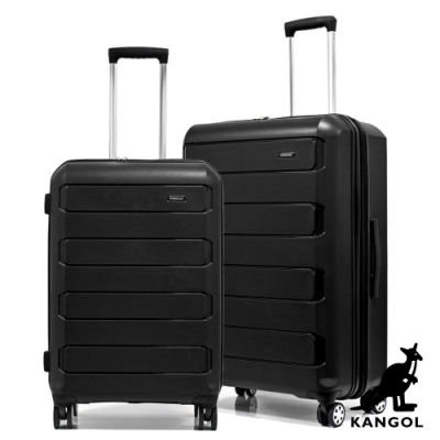 KANGOL - 英國袋鼠24+28吋輕量耐磨可加大PP行李箱-共4色