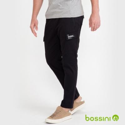bossini男裝-輕鬆長褲02黑