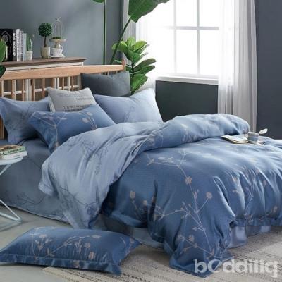 BEDDING-100%天絲萊賽爾-特大6x7薄床包+鋪棉兩用被套四件組-暗影沉香
