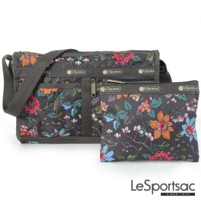 LeSportsac - Standard雙口袋斜背包-附化妝包(靜謐花園)
