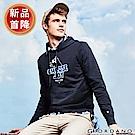 GIORDANO 男裝派對豬系列印花刷毛帽TEE-02 標誌海軍藍