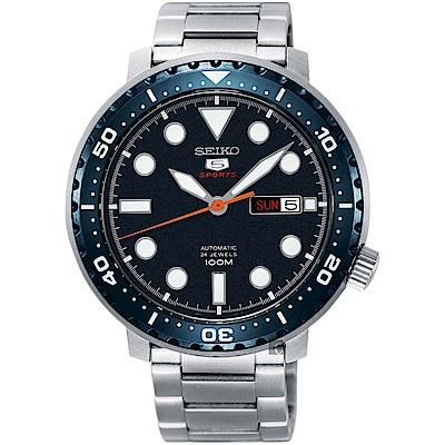 SEIKO 精工5號系列 復刻運動機械錶(SRPC63J1)-藍x銀x/44mm