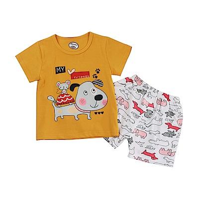 動物印花短袖清涼套裝 k51161 魔法Baby