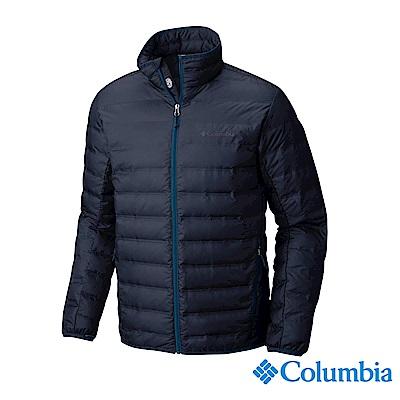 Columbia哥倫比亞 男款- 防潑立領羽絨外套-深藍 UWE08390NY