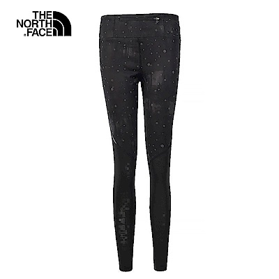 TheNorthFace北面女款黑色印花吸濕排汗緊身褲 | 3F1U7EG