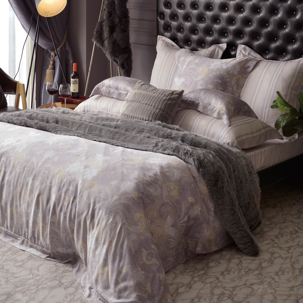 義大利La Belle 曼特印象 雙人天絲四件式防蹣抗菌吸濕排汗兩用被床包組