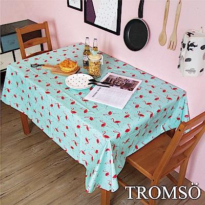 TROMSO 北歐生活抗汙防水桌布-繽紛火鶴鳥