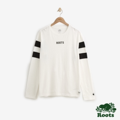 ROOTS男裝  原創長袖T恤-白