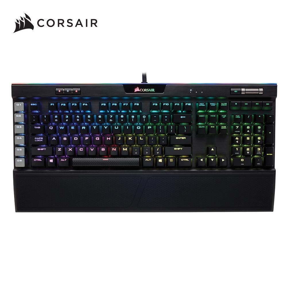 【CORSAIR海盜船】 K95 RGB PLATINUM 機械式電競鍵盤/銀軸/中文鍵帽/RGB/CH-9127014-TW