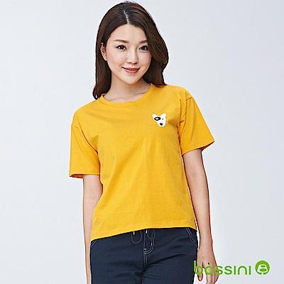 bossini女裝-圓領短袖上衣04芒果黃