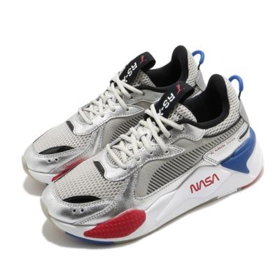 Puma 休閒鞋 RS X Space Agency 男女鞋 海外限定 NASA聯名 皮革質感 情侶鞋 銀 白 37251101