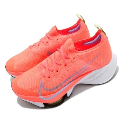 Nike 慢跑鞋 Zoom Tempo Next 運動 女鞋 氣墊 避震 舒適 路跑 健身 襪套 橘 白 CI9924800
