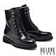 短靴 HELENE SPARK 率性時髦鍊條開邊珠軟牛皮綁帶短靴-黑 product thumbnail 1