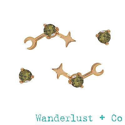 Wanderlust+Co 生日石系列- 八月耳環
