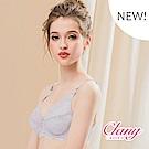 台灣製微乳排汗透氣超舒適C-F 加大下圍全罩杯內衣 灰色 可蘭霓Clany