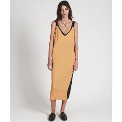 ONETEASPOON QUEENIE DRESS 黃x黑 V領美背連身洋裝-女