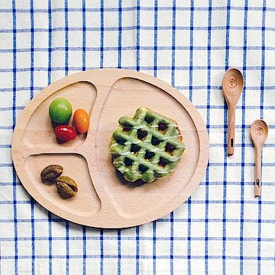 Homely Zakka 木趣食光日系木質橢圓分隔餐盤(橢圓)