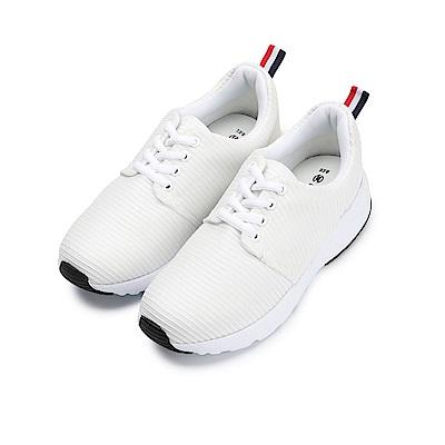 BuyGlasses 素面質感無限慢跑鞋-白
