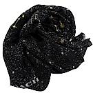 COACH花朵圖案流蘇裝飾圍巾披肩(粉)