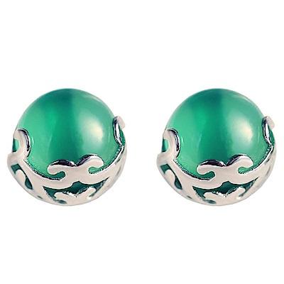 米蘭精品 925純銀耳環-復古高雅瑪瑙耳環