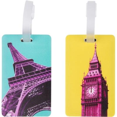 《TRAVELON》行李掛牌2件(鐵塔鐘樓)