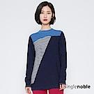獨身貴族 前衛時髦撞色斜拼條紋針織衫(2色)