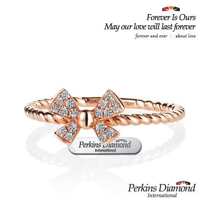 PERKINS 伯金仕 - Butterfly系列 18K玫瑰金鑽石戒指