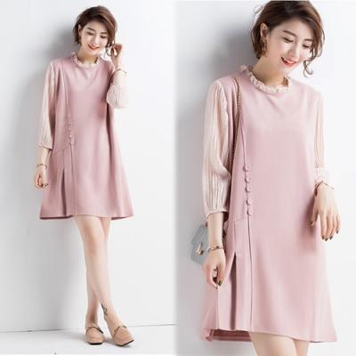 【韓國K.W.】時髦氣場絨毛修身洋裝-1色