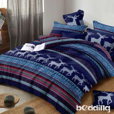 BEDDING-頂級法蘭絨-單人床包被套三件組-糜鹿情感