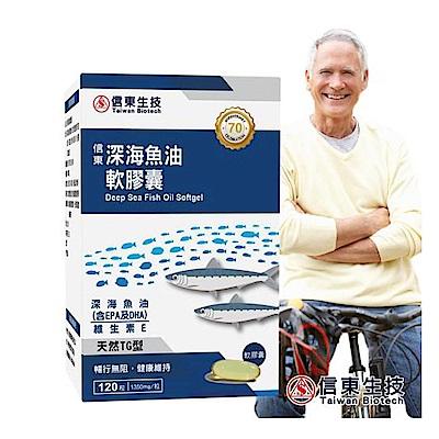 【信東生技】深海魚油軟膠囊(120粒/盒)