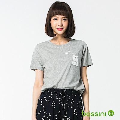 bossini女裝-圓領短袖上衣21淺灰