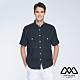 MYVEGA MAN落肩oversize撞色裝飾線貼袋短襯衫-黑 product thumbnail 1