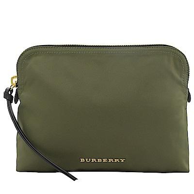 BURBERRY金屬LOGO輕量尼龍萬用包(綠)