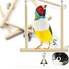 dyy》鸚鵡啃咬玩具 天然原色實木站架鳥架18*12.5cm
