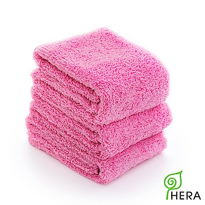 HERA 3M專利瞬吸快乾抗菌超柔纖毛巾3入組-蜜桃紅