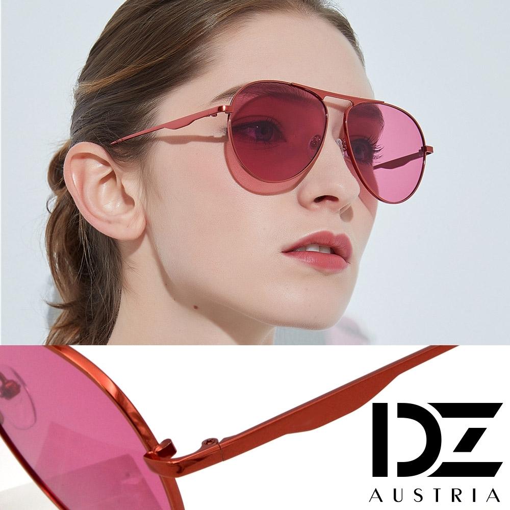 DZ 都會美型 抗UV防曬太陽眼鏡墨鏡(復古紅)