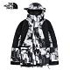 【經典ICON】The North Face北面男女款黑白印花防水透氣衝鋒衣 4R520B5 product thumbnail 1