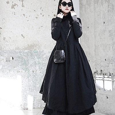立領褶皺兩面穿蓬蓬裙洋裝/設計所在/SC-6010