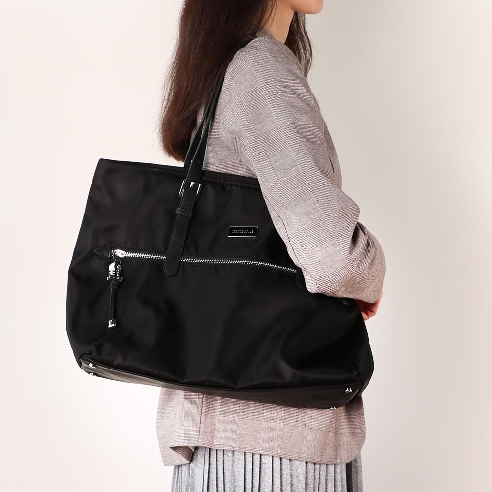 Samsonite新秀麗 KARISSA 經典時尚購物包M(黑)