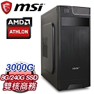 微星 文書系列【隔岸觀火】AMD 3000G雙核 商務電腦